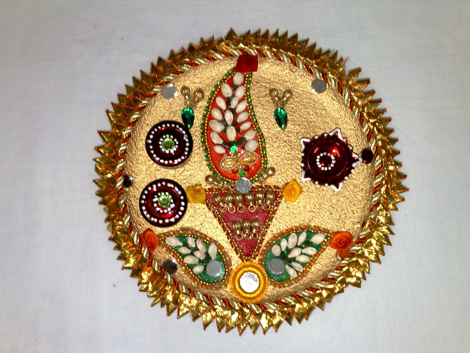 Art land for Aarti thali decoration ideas for competition